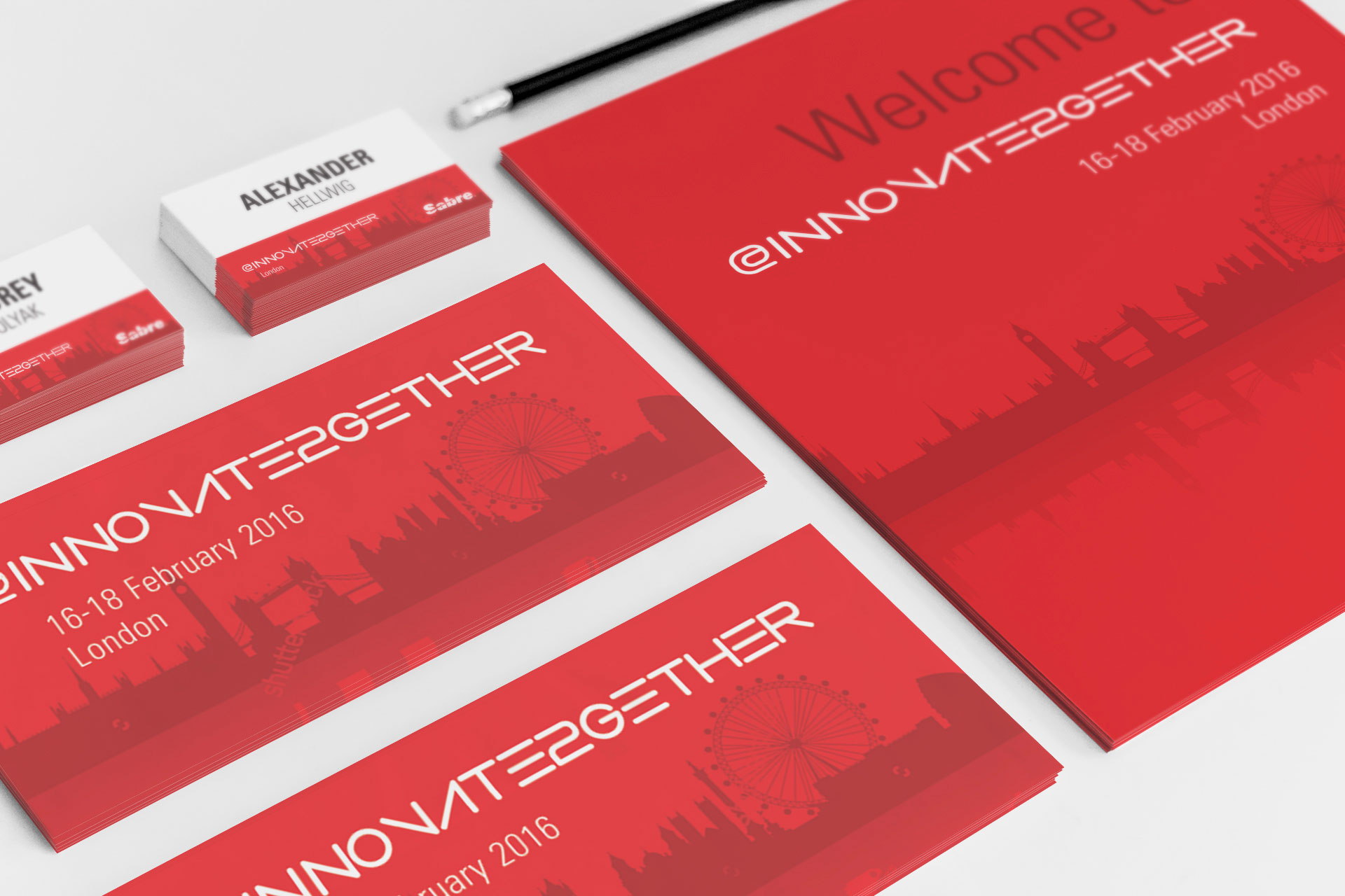 Sabre – Visual Identity – Innovate Together Event Branding