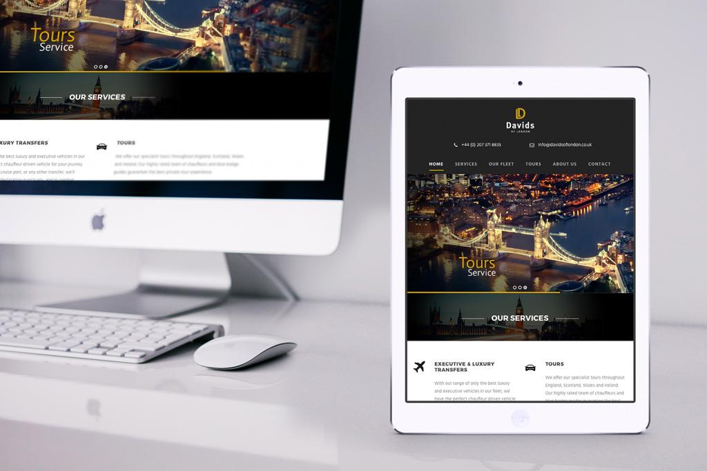 Davids of London – Website & Brochure