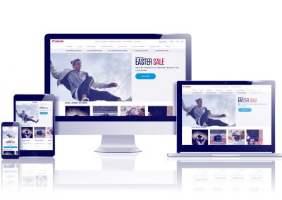 Canon Europe – UX & UI Design – E-commerce Website